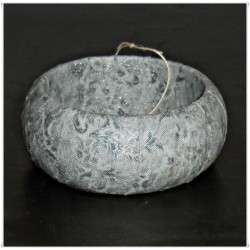 Silver Winter Metallic Fabric Bangle