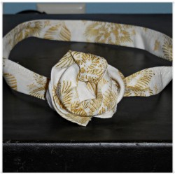 Ivory Poinsettia Lines Wired Headband