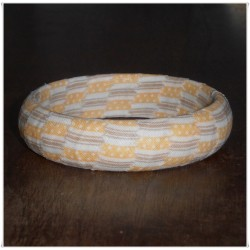 Golden Yellow Ticking Fabric Bangle