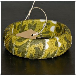 Olive Green Vines Fabric Bangle