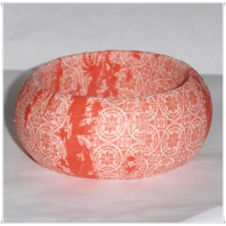 Coral Toile California Girl Fabric Bangle