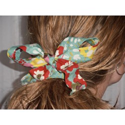 Turquoise Floral Wired Headband