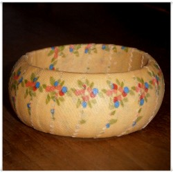 Sunshine Berry Lace California Girl Fabric Bangle
